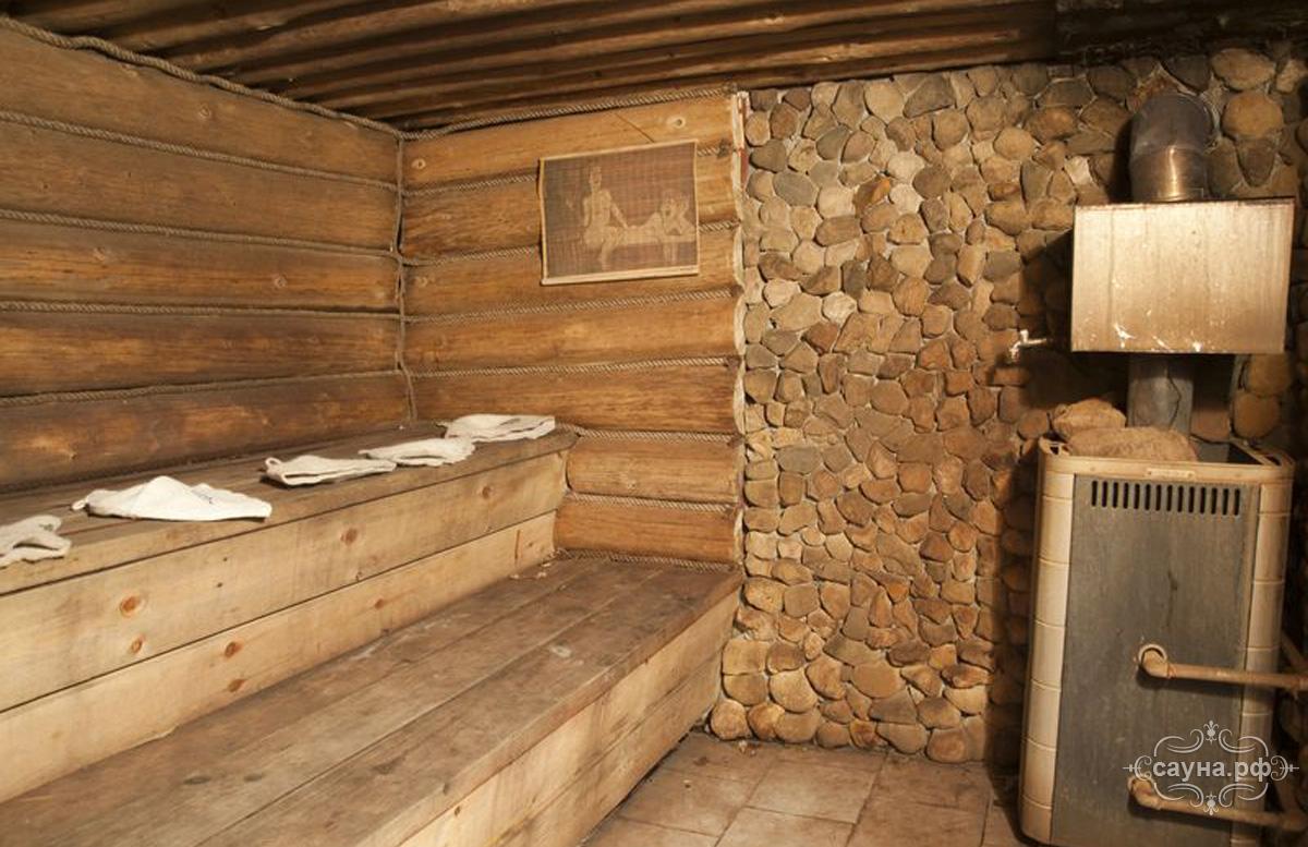 баня русская на дровах фото